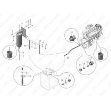 1104-01655 Топливная трубка фильтра сепаратора Yutong (Ютонг).