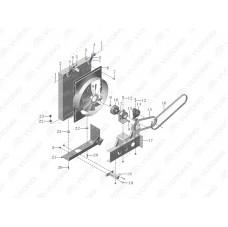 1301-03676 Радиатор охлаждающей жидкости двигателя Yutong (Ютонг).