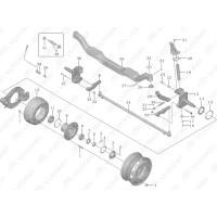 3001-01109 Уплотнительная прокладка рулевого поворотного кулака Yutong (Ютонг)