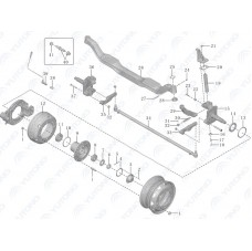 3001-01109 Уплотнительная прокладка рулевого поворотного кулака Yutong (Ютонг).