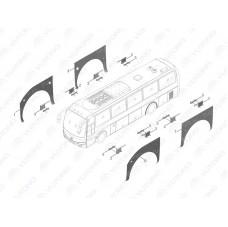 3102-01614 Арка переднего левого колеса Yutong (Ютонг)