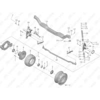 3501-02457 Барабан тормозной передний Yutong (Ютонг)