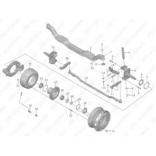 3103-00115 Барабан тормозной передний Yutong (Ютонг)